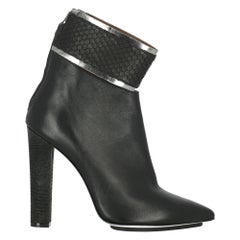 Gianfranco Ferre Woman Ankle boots Black Leather IT 40