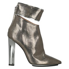 Gianfranco Ferre Woman Ankle boots Bronze Leather IT 39