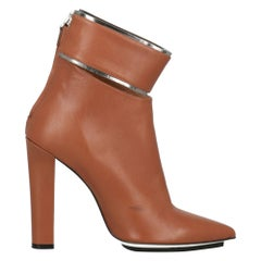 Gianfranco Ferre Woman Ankle boots Camel Color Leather IT 40