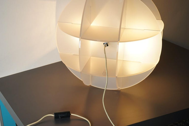 Mid-20th Century Gianfranco Fini Lamp Model Quasar Edition New Lamp, Italy For Sale