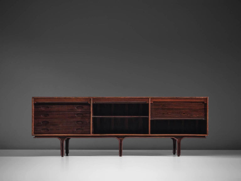 Gianfranco for Bernini Credenza with Tambour Doors In Good Condition For Sale In Waalwijk, NL