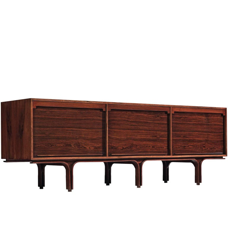 Gianfranco for Bernini Credenza with Tambour Doors For Sale