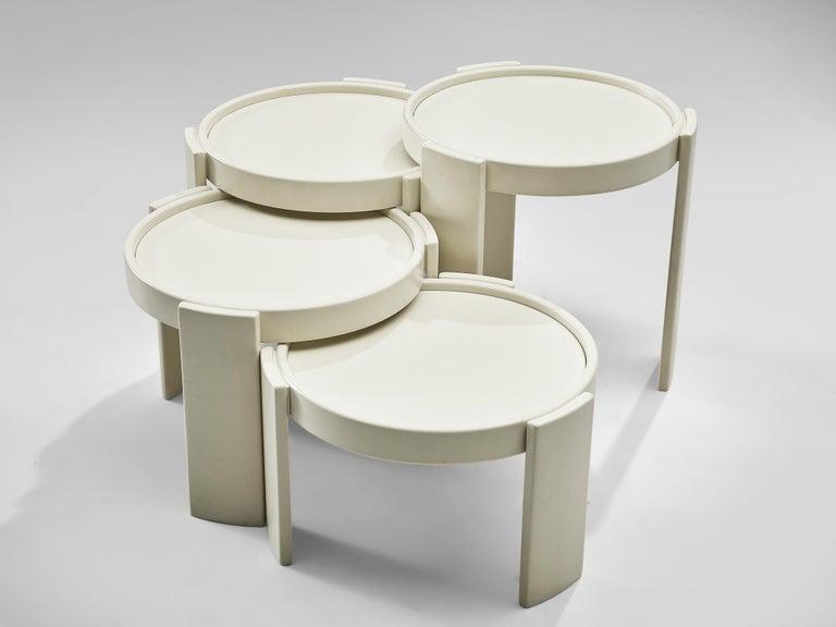 Italian Gianfranco Frattini '780' Nesting Table in White