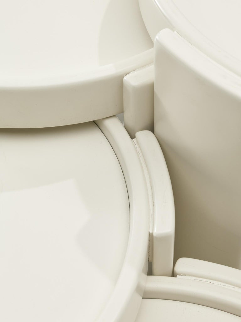 Lacquered Gianfranco Frattini '780' Nesting Table in White