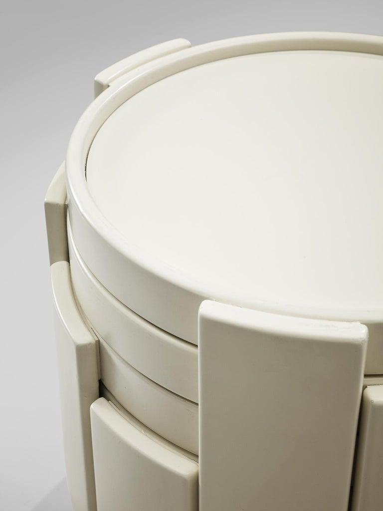 Mid-20th Century Gianfranco Frattini '780' Nesting Table in White