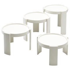 Gianfranco Frattini '780' Nesting Table in White