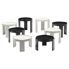 2 Sets of Gianfranco Frattini '780' Nesting Tables