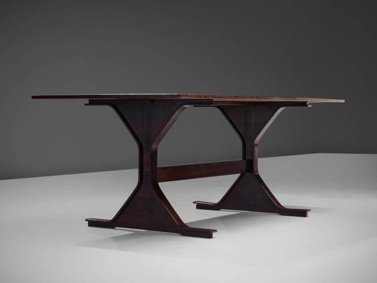 Wood Gianfranco Frattini Dinner Table, circa 1960s For Sale