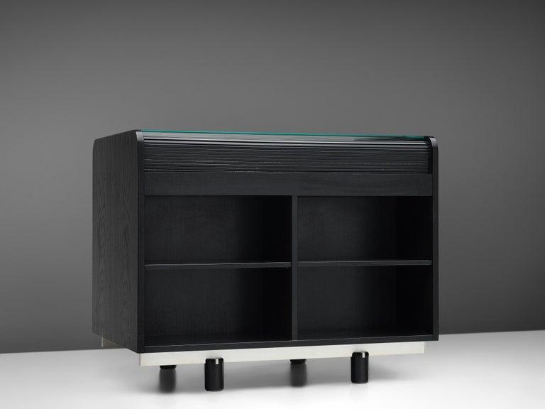 Gianfranco Frattini for Bernini Cabinet with Desk Model 804 in Black For Sale 1