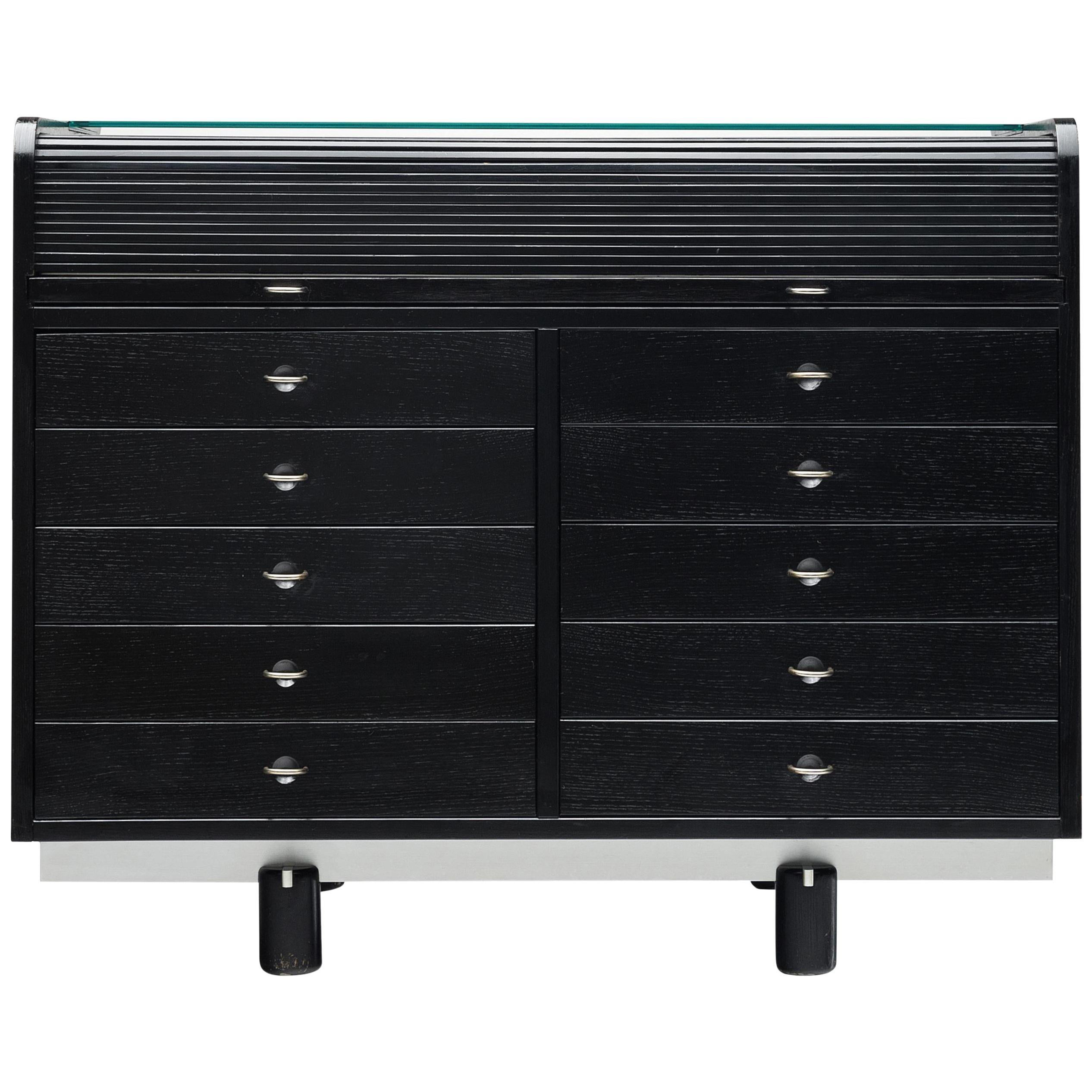 Gianfranco Frattini for Bernini Cabinet with Desk Model 804 in Black