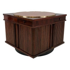 Gianfranco Frattini for Bernini Rosewood Bar Side Table