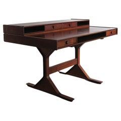 Gianfranco Frattini Italian Midcentury Wood Desk for Bernini, 1950s