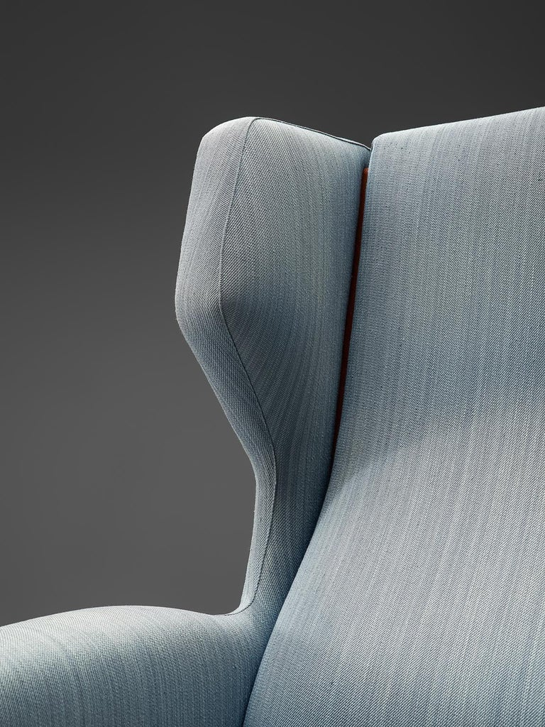 Fabric Gianfranco Frattini Lounge Chair for Cassina For Sale