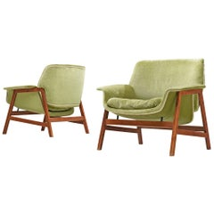 Gianfranco Frattini Lounge Chairs Model '849' for Cassina