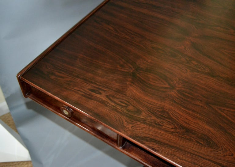 Gianfranco Frattini Mid-Century Modern Rosewood Desk Writing Table Bernini Italy For Sale 5