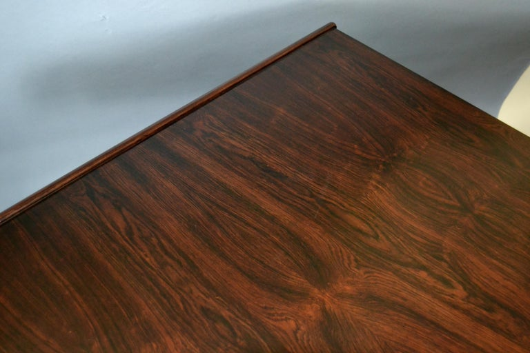 Gianfranco Frattini Mid-Century Modern Rosewood Desk Writing Table Bernini Italy For Sale 6