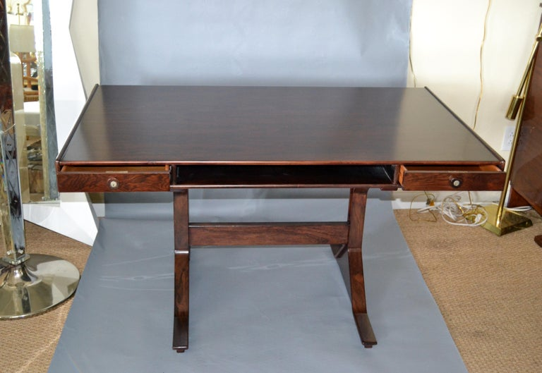 Italian Gianfranco Frattini Mid-Century Modern Rosewood Desk Writing Table Bernini Italy For Sale
