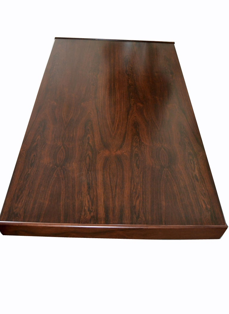 Gianfranco Frattini Mid-Century Modern Rosewood Desk Writing Table Bernini Italy For Sale 2