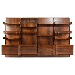 Gianfranco Frattini Mid-Century Modern Wall Unit, Italy 1960