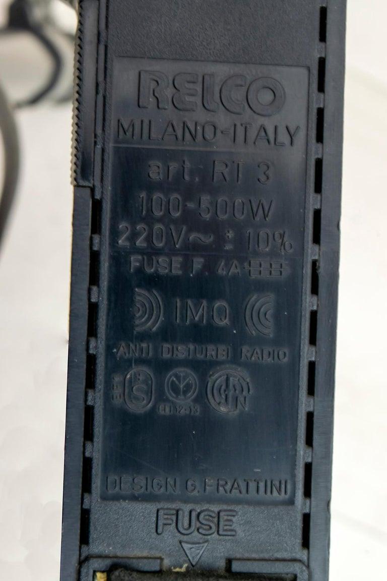 Gianfranco Frattini Postmodern Italian RT3 Floor Lamp for Relco Milano, 1980s For Sale 5