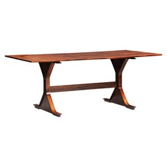 Gianfranco Frattini Rosewood Dining Table for Bernini Model 522