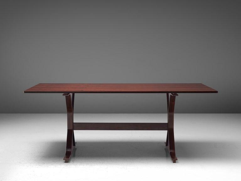 Gianfranco Frattini Rosewood Table, circa 1960s For Sale 1