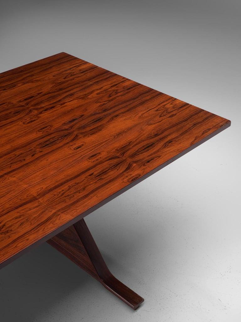 Gianfranco Frattini Rosewood Table, circa 1960s For Sale 2