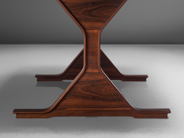 Gianfranco Frattini Rosewood Table, circa 1960s For Sale 3