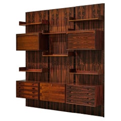 Gianfranco Frattini Rosewood Wall Unit