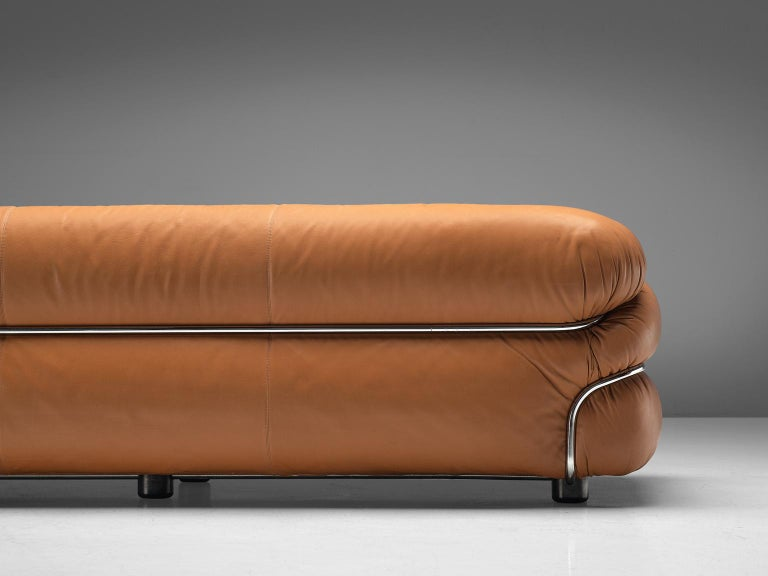 Gianfranco Frattini 'Sesann' Livingroom Set in Original Cognac Leather 2