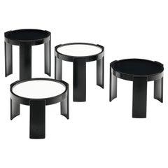 Gianfranco Frattini Set of '780' Nesting Tables in Black and White
