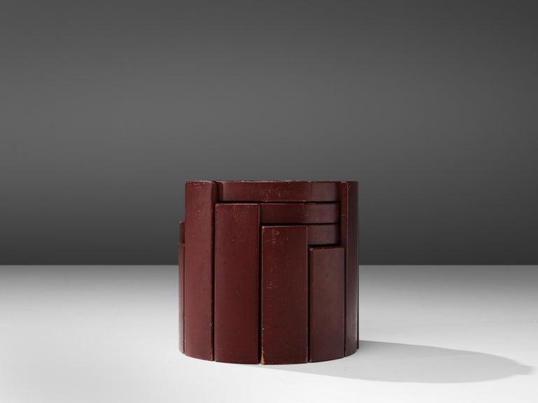 Mid-Century Modern Gianfranco Frattini Set of Four '780' Nesting Tables