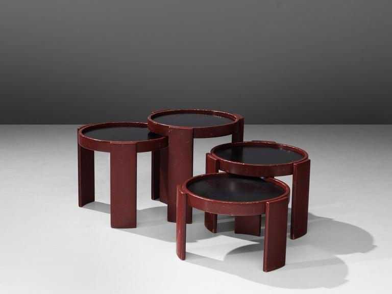 Mid-20th Century Gianfranco Frattini Set of Four '780' Nesting Tables