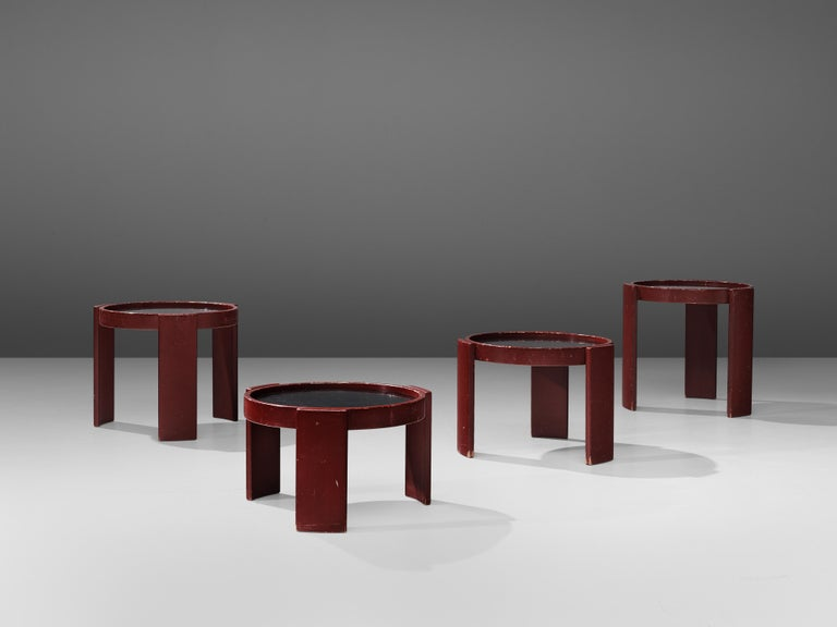 Wood Gianfranco Frattini Set of Four '780' Nesting Tables