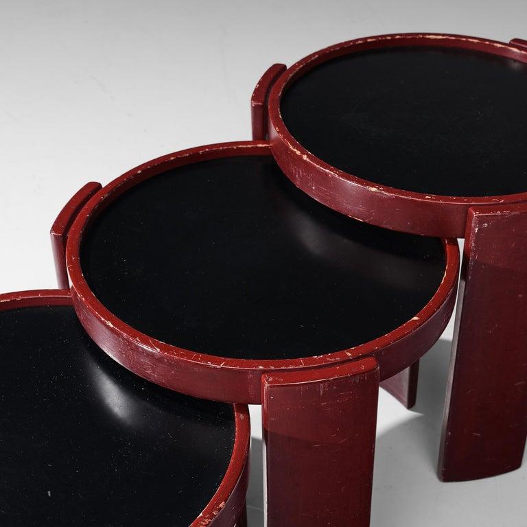 Gianfranco Frattini Set of Four '780' Nesting Tables 1