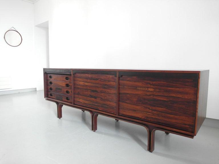 Italian Gianfranco Frattini Sideboard in Rosewood for Bernini, Italy, 1957 For Sale