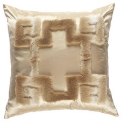Gianfranco Ferré Home Athena Positive Beige Cushion in Orylag