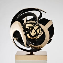 "Kinetic Bronze Sculpture by Italian artist Gianfranco Meggiato - ""Altair"""