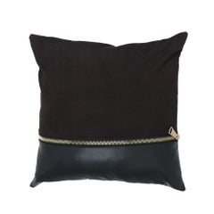 Gianfrano Ferré Missie Pillow in Dark Brown Suede