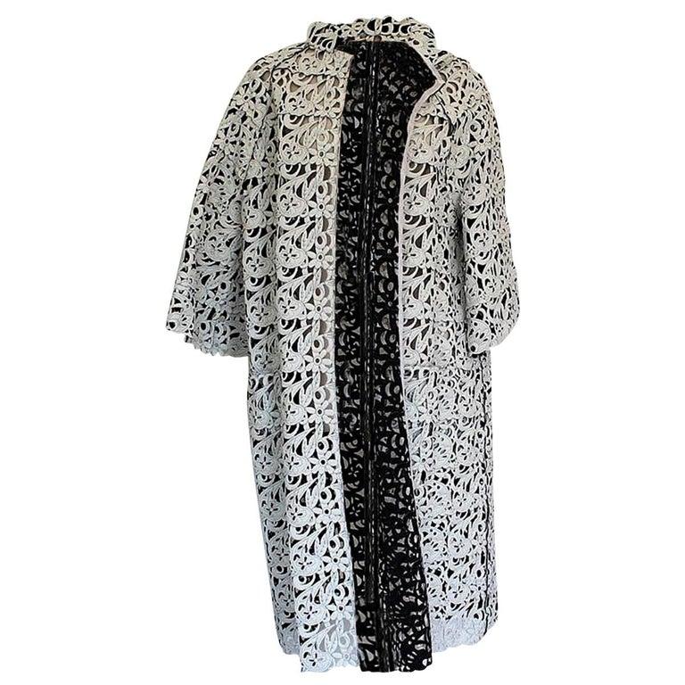 "Gianluca Capannolo ""Audrey"" Reversible Overcoat 10/44 For Sale"