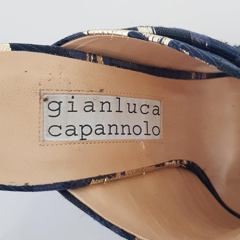 Gianluca Capannolo Lamé Sabot 39 For Sale 1