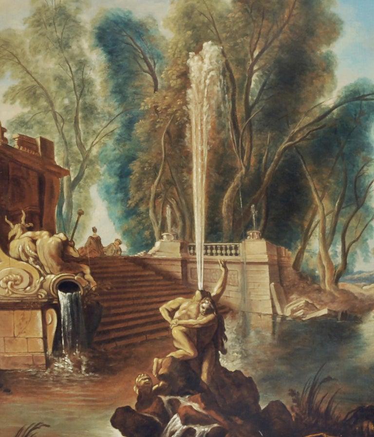 Italian Garden - Gianluca D'Este Italian Oil on Canvas Painting For Sale 1