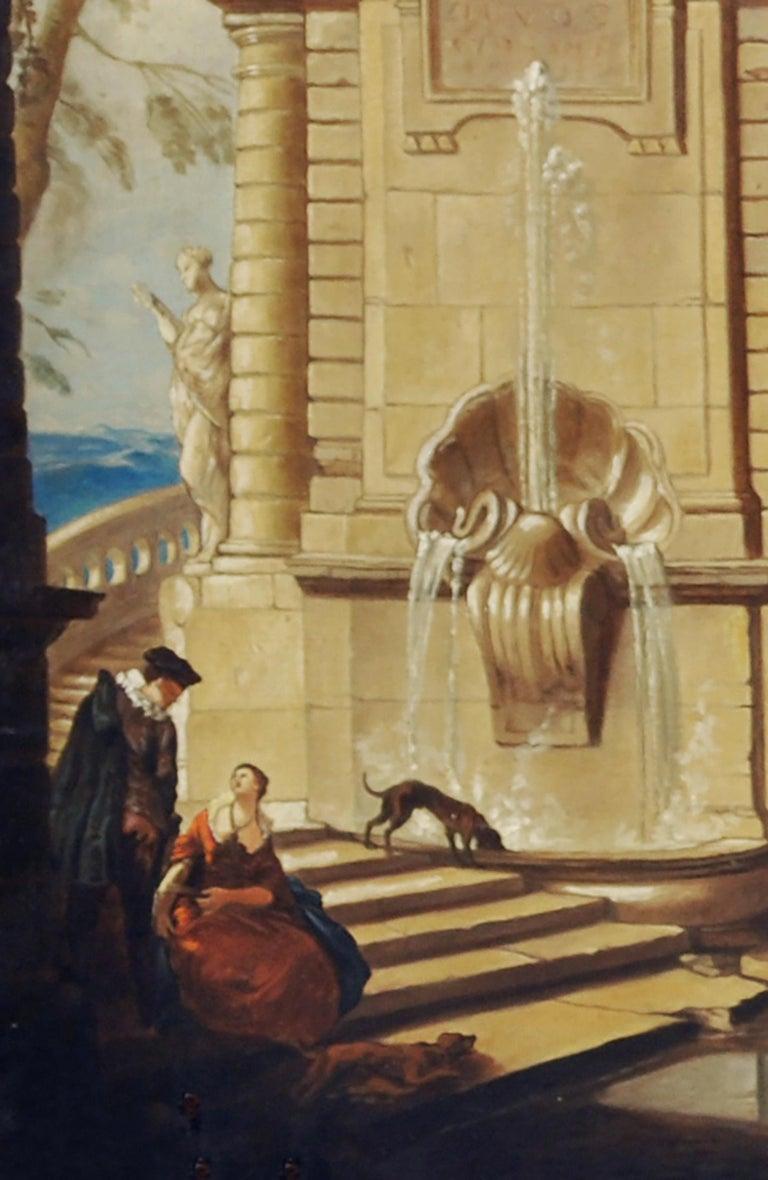 Italian Garden - Gianluca D'Este Italian Oil on Canvas Painting For Sale 3