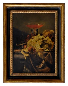 STILL LIFE - In the Manner of J. van Walscapelle -Italian Oil on Canvas Painting