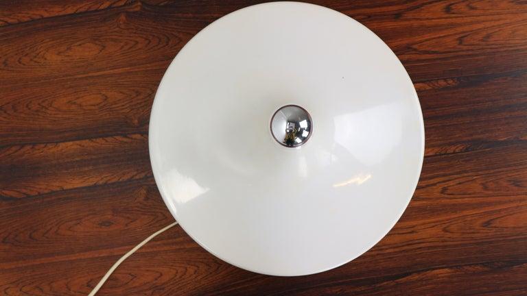 Gianluigi Gorgoni Model Disco Wall or Ceiling White Lamp for Stilnovo, 1970 For Sale 5