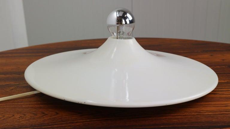 Gianluigi Gorgoni Model Disco Wall or Ceiling White Lamp for Stilnovo, 1970 For Sale 6