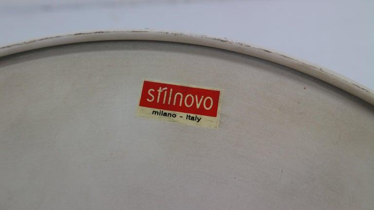 Gianluigi Gorgoni Model Disco Wall or Ceiling White Lamp for Stilnovo, 1970 For Sale 12