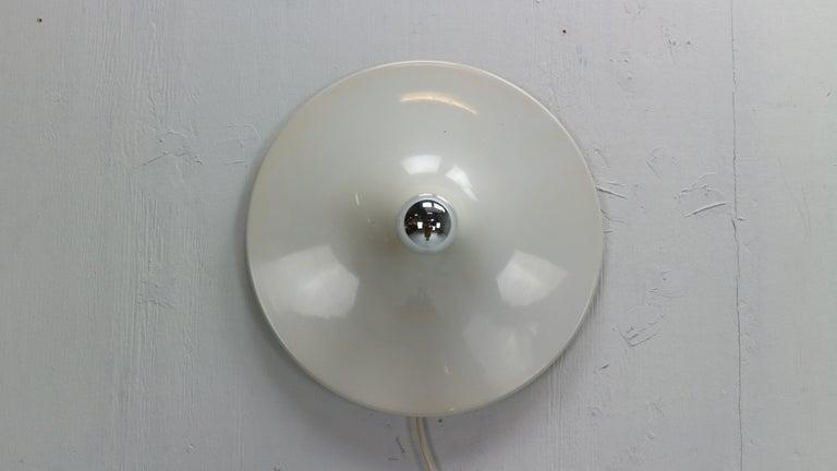 Aluminum Gianluigi Gorgoni Model Disco Wall or Ceiling White Lamp for Stilnovo, 1970 For Sale
