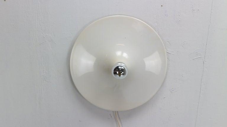 Gianluigi Gorgoni Model Disco Wall or Ceiling White Lamp for Stilnovo, 1970 For Sale 2