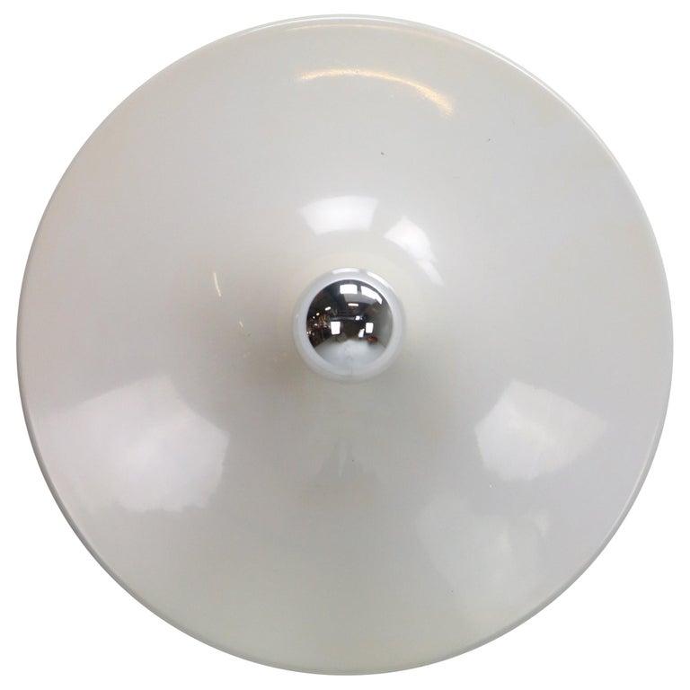 Gianluigi Gorgoni Model Disco Wall or Ceiling White Lamp for Stilnovo, 1970 For Sale